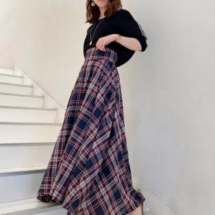 ♡チェックフレアスカート♡