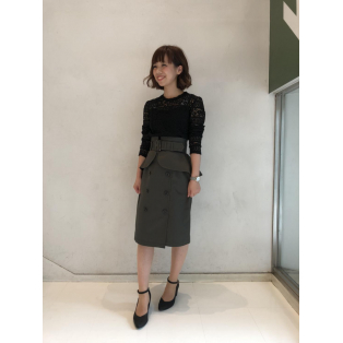 トレンチタイトスカート