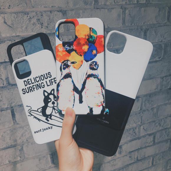 スライド式カード収納&ミラー付きケース