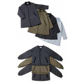 オーバーサイズのキルティングコート・ジャケット