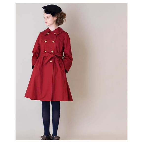 compact twill gored coat