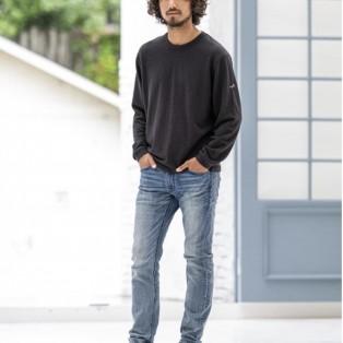 CALL&RESPONSE メランジ クルー ロングTシャツ ブラック