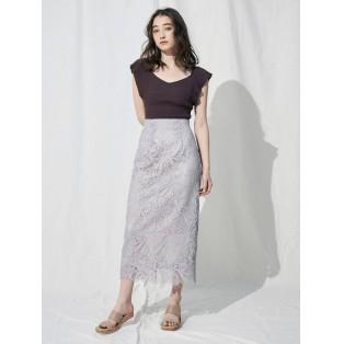 【名古屋PARCO店 人気No1】フラワーケミカルレースタイトスカート