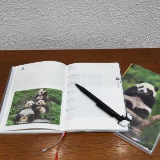 パンダのダイアリーとカレンダー入荷しております。