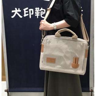 【再入荷!】フレンチリネン帆布3ウェイバッグ(A4横)