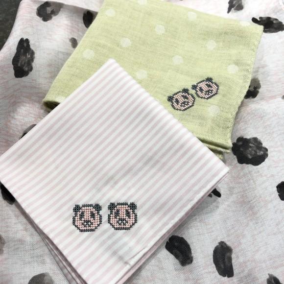 ◇パンダ双子刺繍始めました!