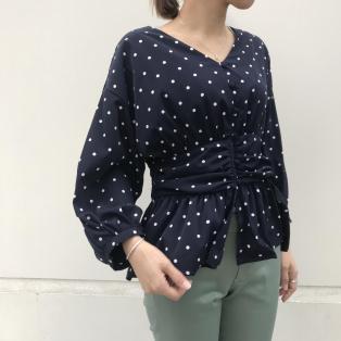 【Divinique上野】dot blouse ×color pants