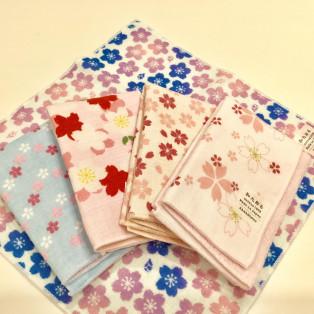 桜柄のセミウォッシュタオル