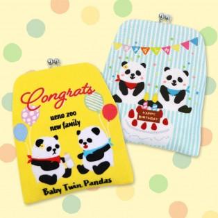 ㊗双子パンダ誕生!上野店限定がまポチ袋