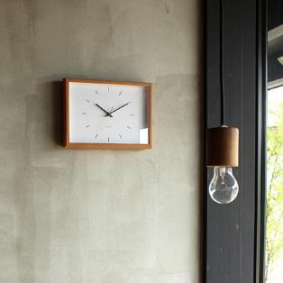 天然木の風合いを楽しめる時計「Frame Clock」