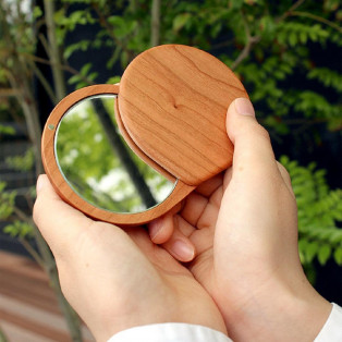 かわいいコンパクトなスライドミラー【Compact Mirror】
