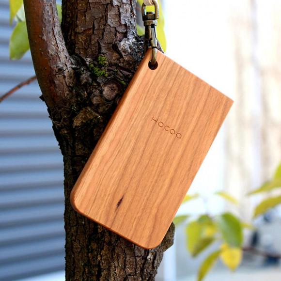 木でタッチする【IC-PassCase】