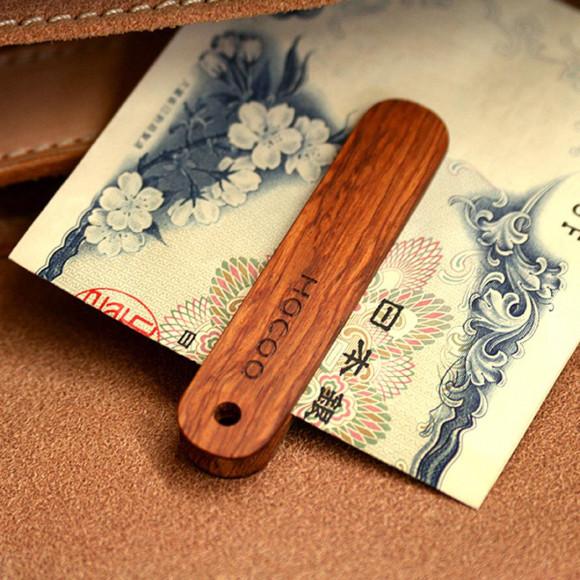 木製マネークリップ【Money Clip】