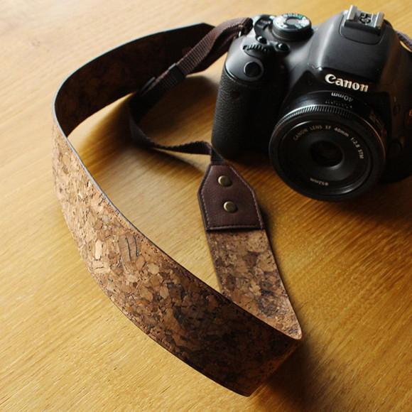 【新商品】コルクレザーのカメラストラップ【CONNIE Neck Camera Strap】