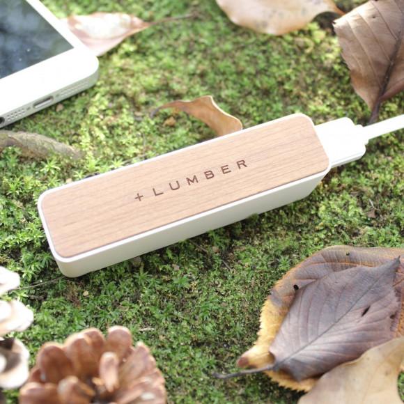 【入学祝にも】 木製モバイルバッテリー「POWERBANK 2600」