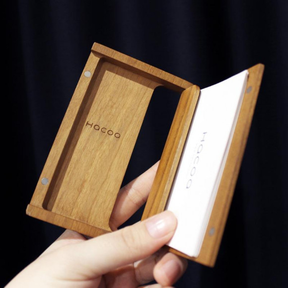 【新社会人・転職する方へ】 おしゃれな木製名刺ケース