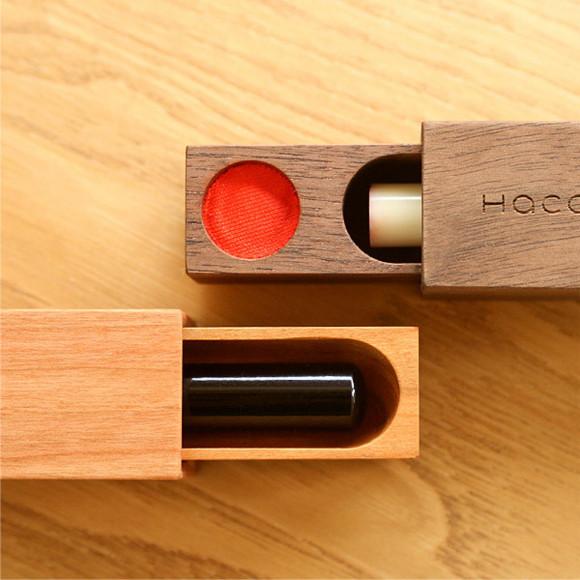 動きが気持ち良い木製印鑑ケース「SealCase」