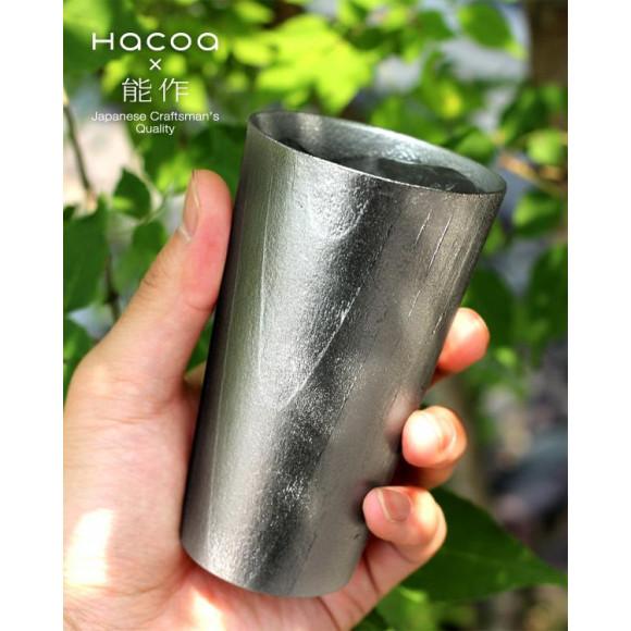 能作とHacoaの伝統職人によるコラボレーション「UZUKURI Beer cup」