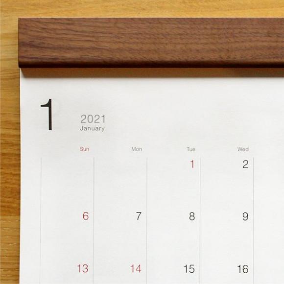 お部屋に馴染むおしゃれな木製壁掛けカレンダー「Wall Calendar」