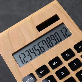 【贈り物に】 高級感漂う木製電卓