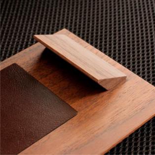 木と革の木製クリップボード「Clip Board レシート用」