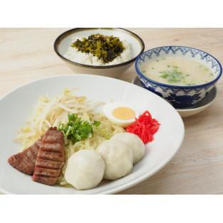 九州メニューフェア「もちもちパオと牛たん焼のトンコツつけ麺」