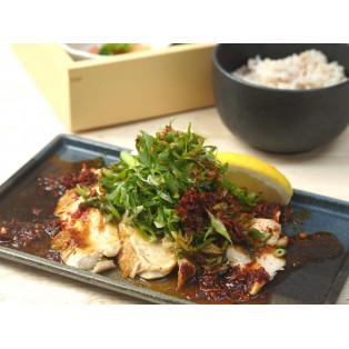 九州メニューフェア「みつせ鶏むね肉のしょうが焼ねぎたっぷりのせ」