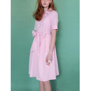 LADY ギンガム ドレス