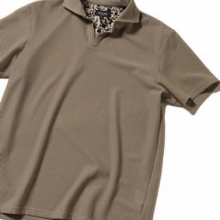 MEN'S BIGI   ハニカムメッシュ スキッパーポロシャツ