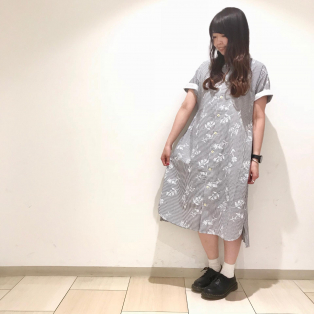 清涼感のあるシャツワンピ (*´-`)
