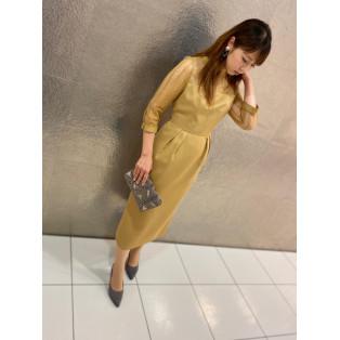 袖付きタイトドレス☆