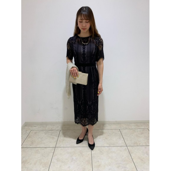 総レースタイトドレス♡