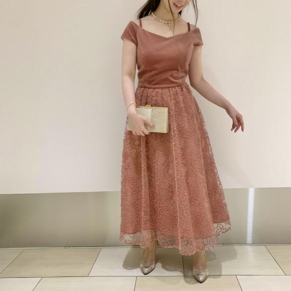 ☆新作ベロア×リボン刺繍ドレス☆