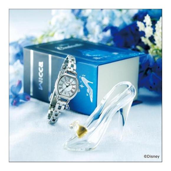 wicca ウィッカ CITIZEN シチズン Disney コレクション シンデレラ 限定モデル 腕時計 KP2-515-71
