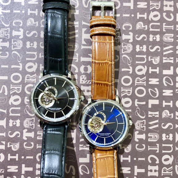 Movement In Motion ムーブメント イン モーション OPEN HEART AUTOMATIC_24Hour Hand 自動巻 腕時計 メンズ  MIM-OH04-SS/BK