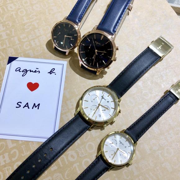 agnes b. アニエスベー SAM サム TiCTAC別注モデル 腕時計 メンズ FCRT708