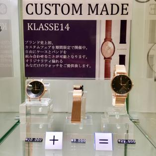 【TiCTAC札幌パルコ店】8月26日まで!!KLASSE14 CUSTOM MADE FAIR✧︎*。