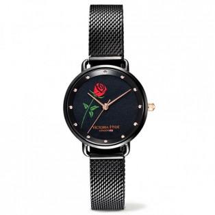 VICTORIA HYDE LONDON ヴィクトリアハイドロンドン 腕時計 レディス バラ刺繍モデル VH1038F