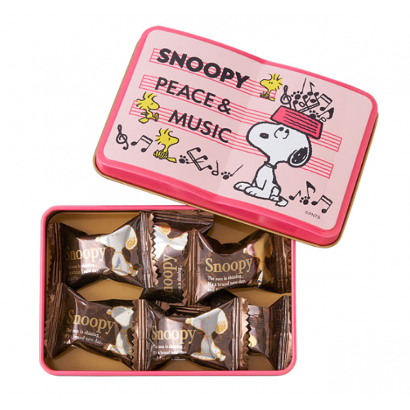 可愛いスヌーピーのミュージックデザインのチョコレートセットが入荷しました♪