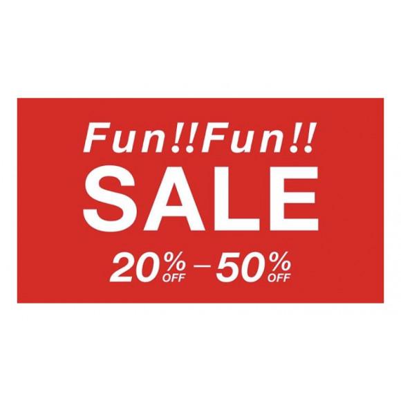 Fun!!Fun!!SALE  20%~50%OFF