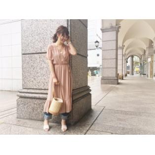 【新作】レーヨンジョーゼット刺繍ガウン