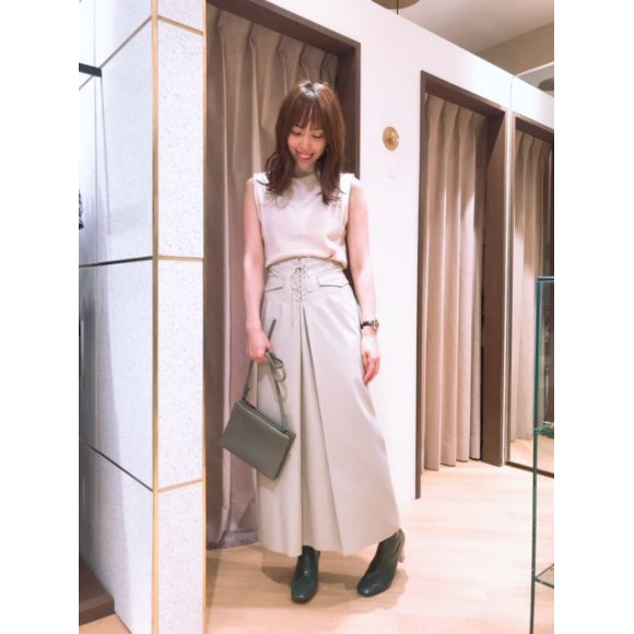 ♡エコレザーロングスカート♡