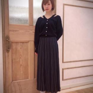大人カジュアル♡ストライププリーツスカート