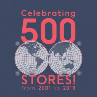 JINS世界500店舗突破記念キャンペーン実施!