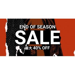 【END OF SEASON SALE 40%OFF】