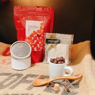 【バレンタインMAオリジナルギフト b】豆香+「季節のコーヒーショコラティエ2021」+マイカフェドリップフィルター