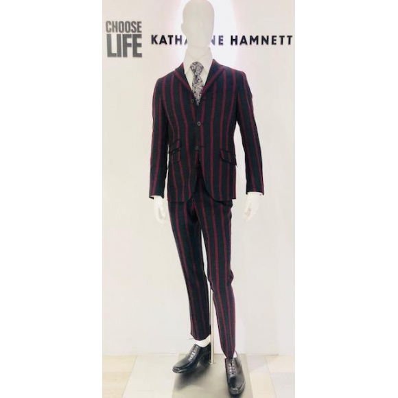 「KATHARINE HAMNETT LONDON」BOLD STRIPE 3B SUIT