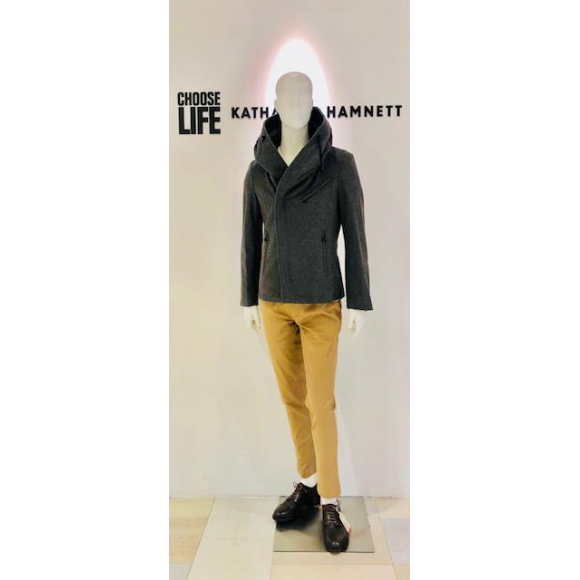 「KATHARINE HAMNETT LONDON」HOODED BLOUSON