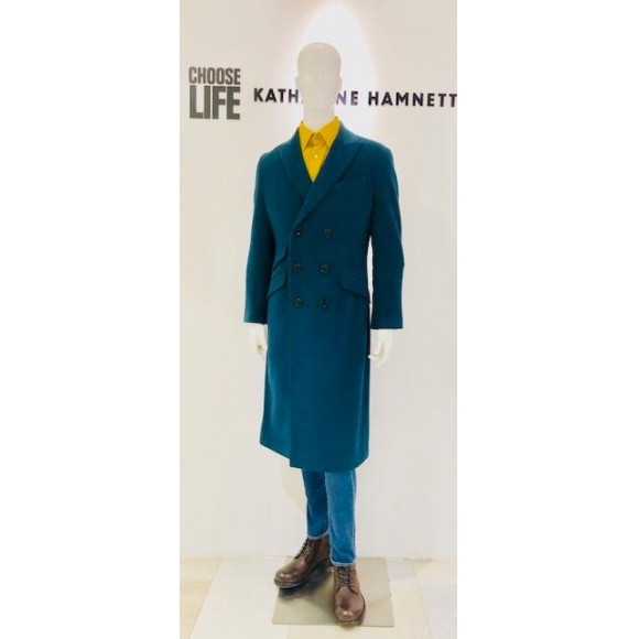 「KATHRINE HAMNETT LONDON」PEAKED DOUBLE COAT