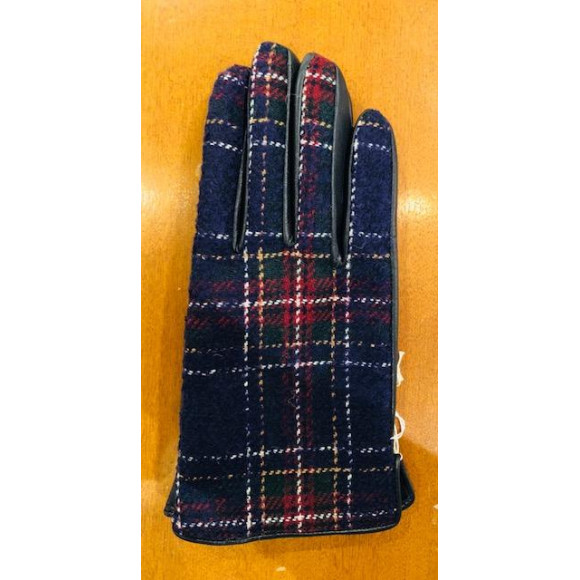 「KATHARINE HAMNETT LONDON」CHECK PANEL GLOVES